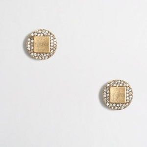 JCrew Gold Diamond Studs